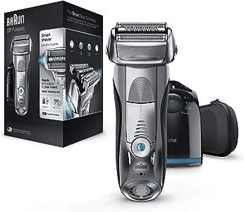 Braun Series 7 7790cc elektrische Rasierer, mit Reinigungs- und Ladestation, Reise-Etui, silber