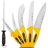 Ensemble de 6 couteaux à viande SOLINGEN EIKASO® / couteau d'abattage Pour les professionnels et les particuliers.