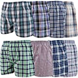 Knockers Pack of 12 Men Woven Boxer Shorts Loose Fit Cotton Underwear Pants Lot