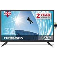 Ferguson 32' LED TV With DVD Player, Freeview HD, USB & 3 x HDMI - British Manufacturer…