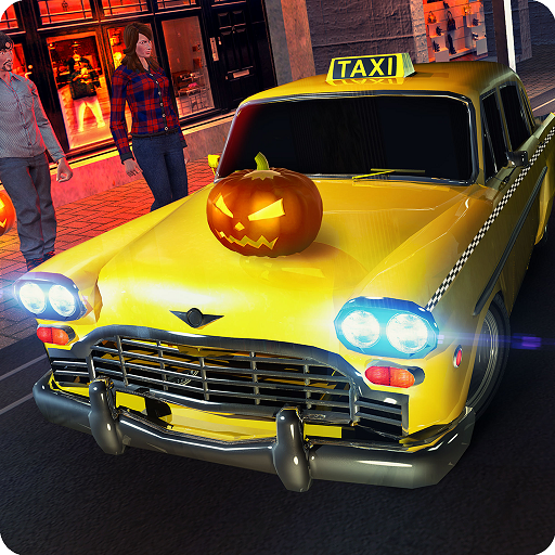 (Party verrückt Taxifahrer Rush Mania Simulator 3D: Halloween Autofahren & Tourist Transporter Abenteuer Mission Simulation Spiele kostenlos für Kinder 2018)