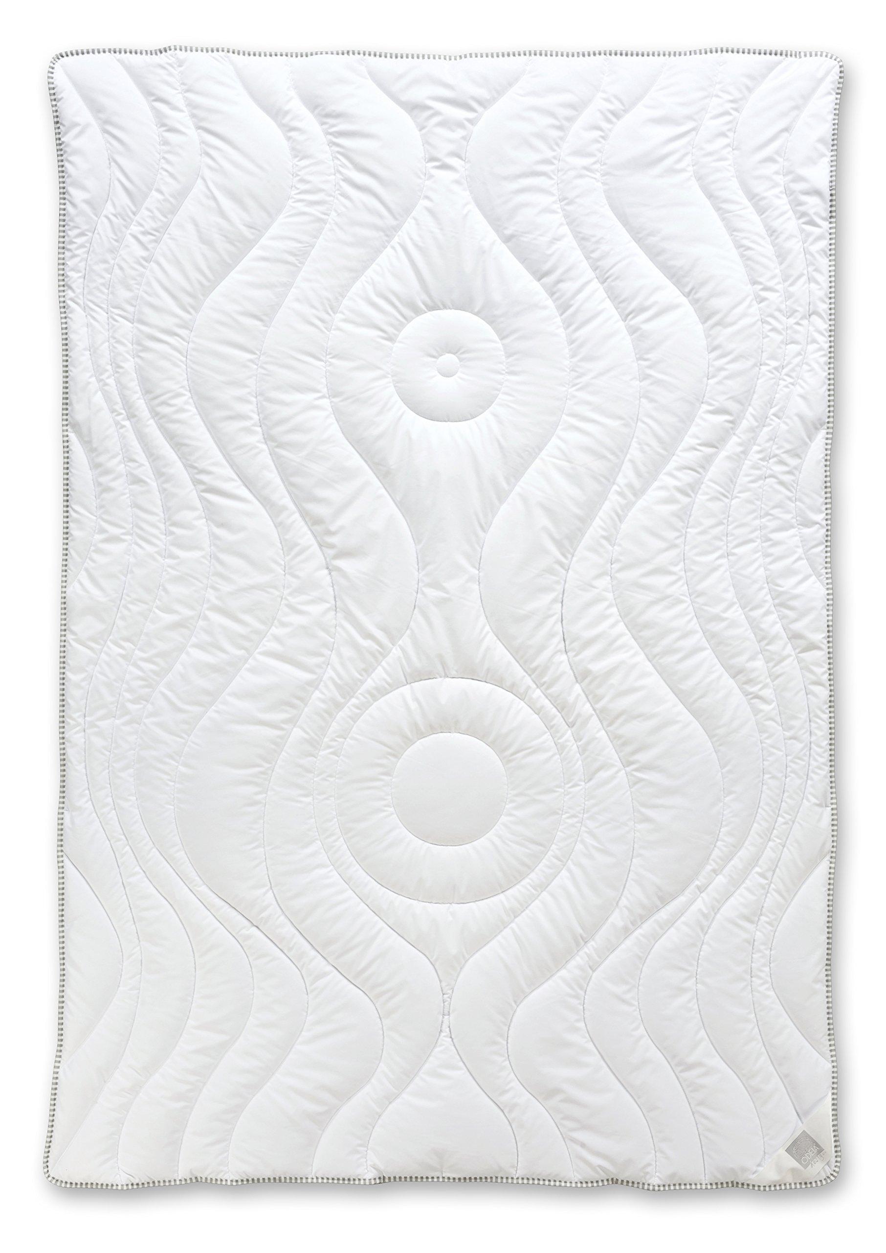 Odeja 200 x 140 cm, film design Micro Sogno, peso leggero, per letti singoli, 1 pezzo, avorio