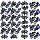 40 stuks snelverbinders, pneumatische, slangverbinder, slangverbinder, kunststof, 4 rechte vormen, type Y met T-type Combo pn