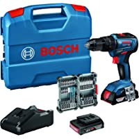 Bosch Professional 18V System Akku Schlagbohrschrauber GSB 18V-55 (max. Drehmoment 55 Nm, inkl. 2x2,0 Ah Akku…