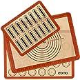 Amazon Brand – Eono Lot de 3 Tapis de Cuisson en Silicone - Feuille de Patisserie Reutilisable, Toile de Cuisson Antiadhésif,