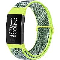 Runostrich Nylon-Uhrenarmbänder Kompatibel mit Fitbit Charge 4/Charge 3/SE, weiches Ersatzarmband, atmungsaktives…