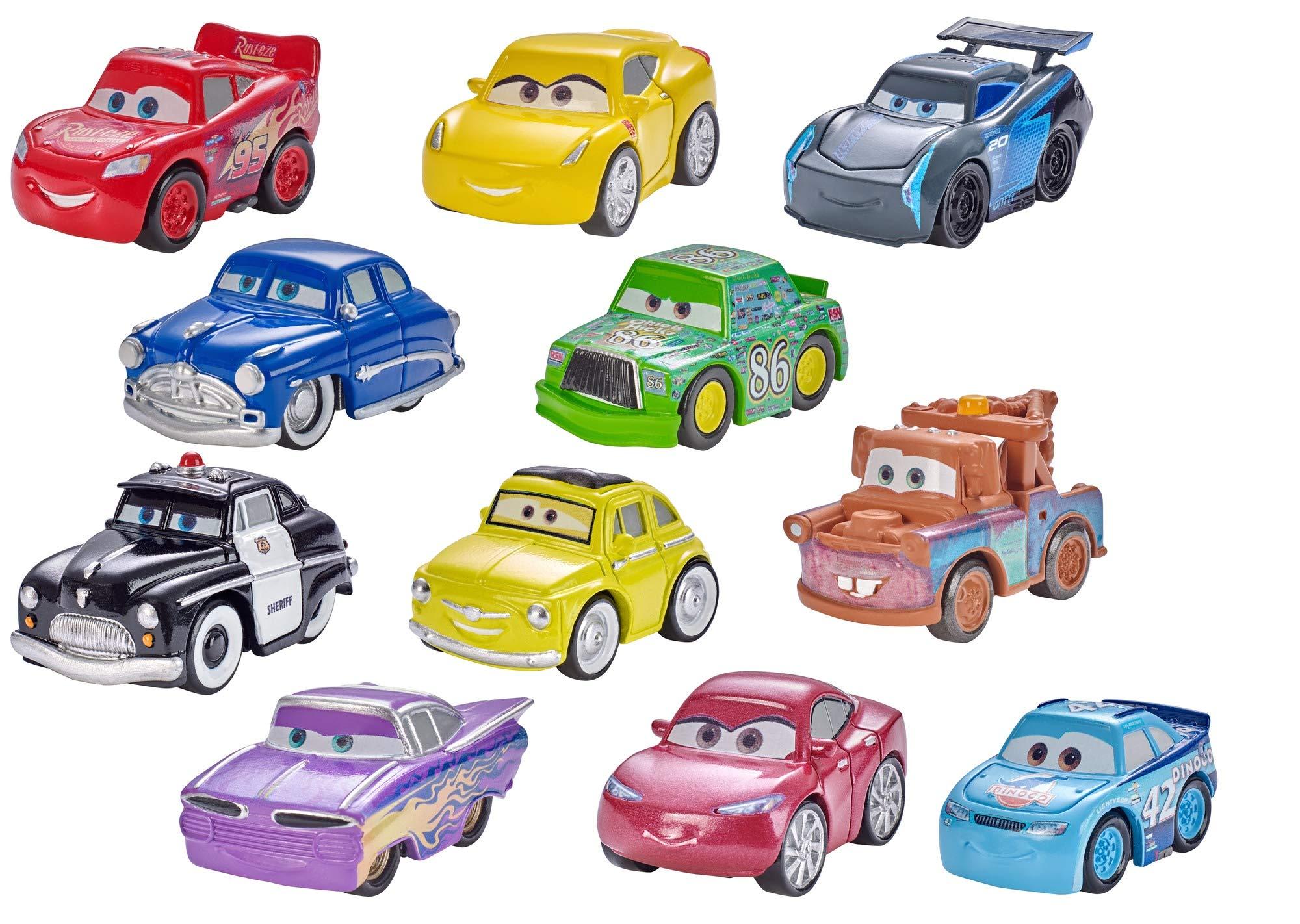 Cars 3 Macchinine da Corsa in Formato Mini dei Personaggi Preferiti,  Veicolo Singolo, i Modelli Possono Variare, FKL39 - Giochi Legno