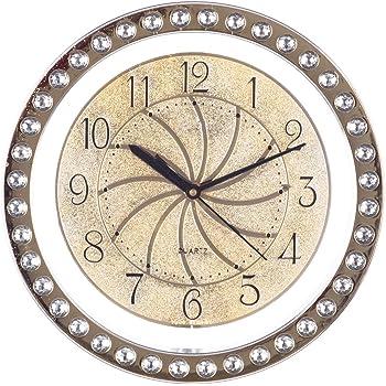 d94ec0cb8 eCraftIndia Decorative Round Plastic Analog Wall Clock (28 cm x 3 cm x 28 cm
