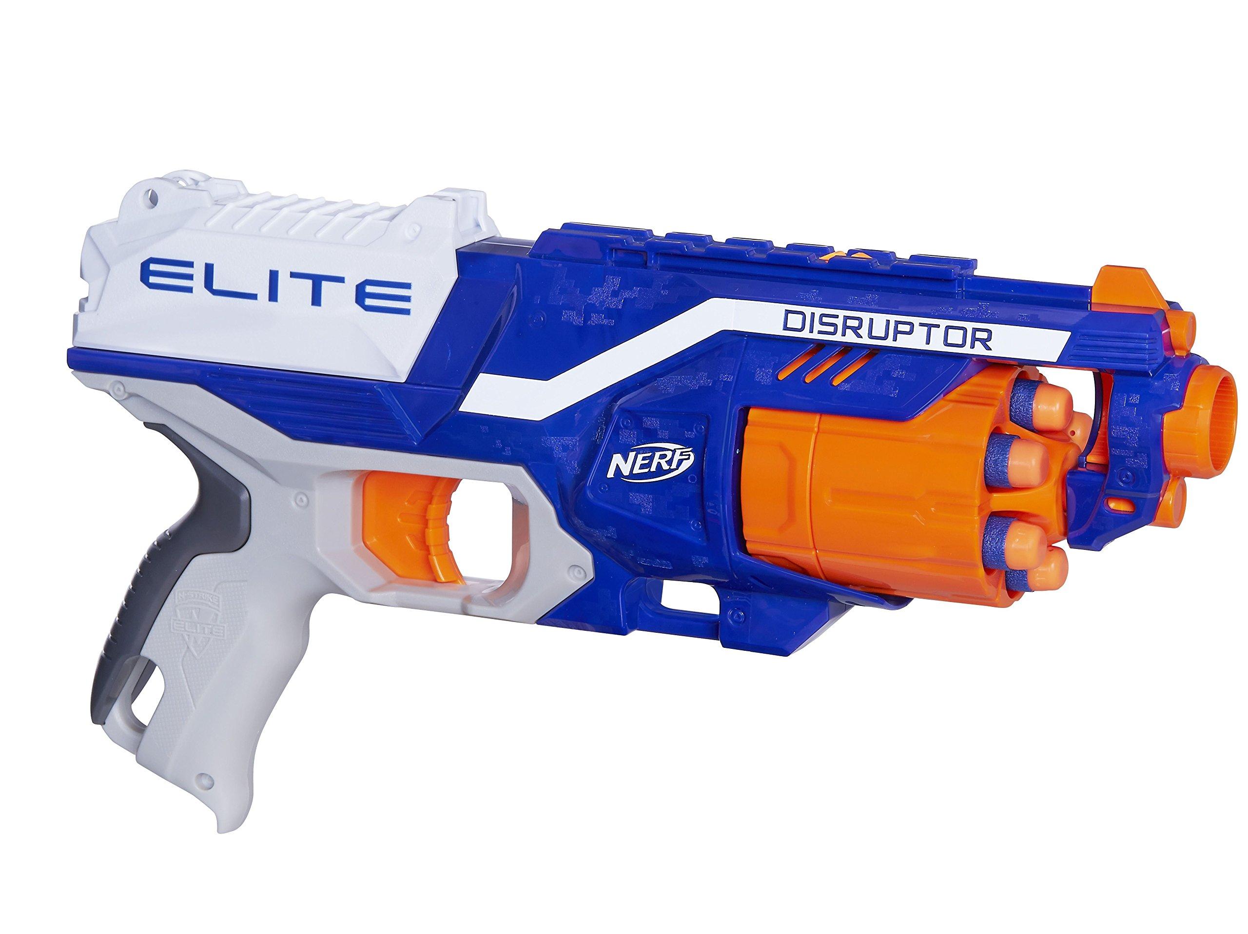 NEW NERF DISRUPTOR N-STRIKE ELITE DART FIRE ROTATING GUN DRUM BLASTER KIDS  TOY