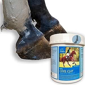 EMMA® Argilla Bianco per Cavalli antidoping Pasta di Argilla con Erbe, Cura e rigenera legamenti, tendini, articolazioni e Muscoli, raffredda, Cura e rigenera 1,5 kg.