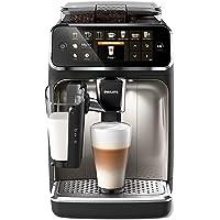 Philips 5400 Serie EP5447/90 Kaffeevollautomat, 12 Kaffeespezialitäten (LatteGo Milchsystem) Matt-Schwarz/Verchromte…