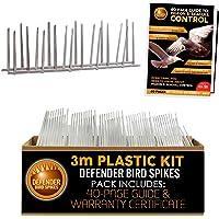 Defender Plastic Bird Spikes Pack   3 Metre   Pigeon Control Guide   Various Size Packs