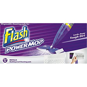 Flash Power Mop All Floors Cleaner Refill 12 Cleaning