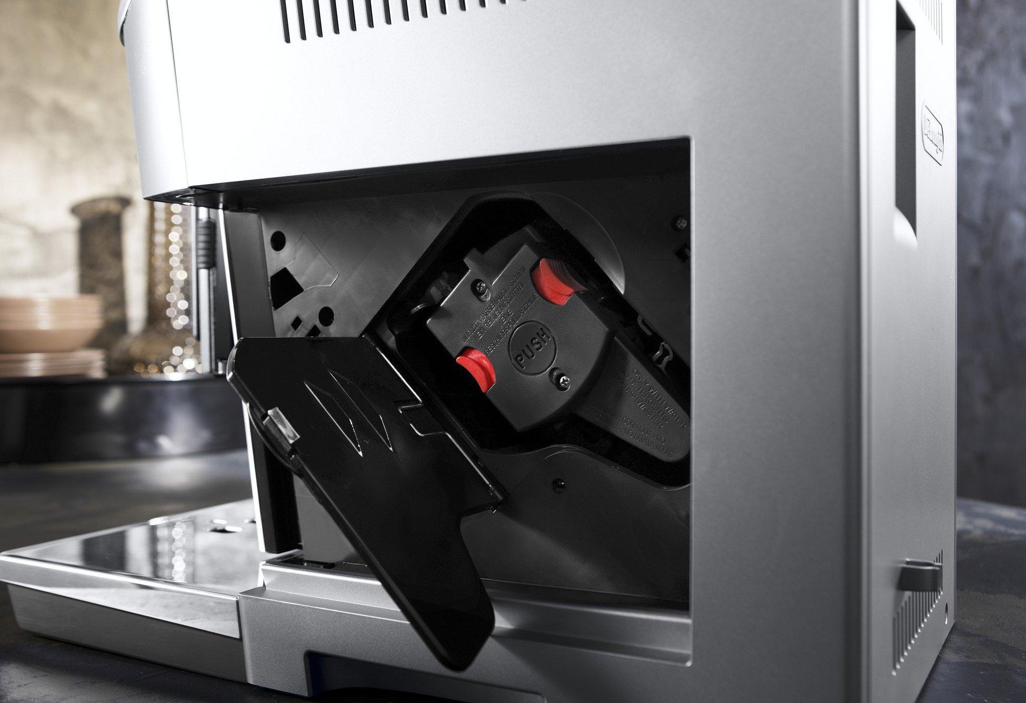 DeLonghi-PrimaDonna-Elite-ECAM-65655MS-Kaffeevollautomat-Farbdisplay-8-Sensortouch-Direktwahltasten-Integriertes-Milchsystem-APP-Steuerung-Edelstahlfront-2-Tassen-Funktion-Silber