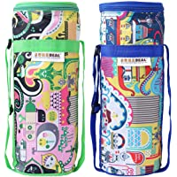 Suredeal Bottle Cover to Keep Water Cool/Hot for Long Hours Compatible with All 2 L Bottles (Multicolour) - Pack of 2