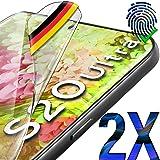 UTECTION 2X Schutzfolie für Samsung Galaxy S20 Ultra - Fingerabdruck kompatibel - Premium Folie KEIN Glas - Hüllenfreundlich - Anti Kratzer Displayschutzfolie HD Ultra Clear - Displayfolie