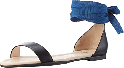 HUGO Damen Felix 10195626 01 Offene Sandalen mit Keilabsatz