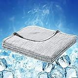 Luxear Arc-Chill Q-Max Zelfkoelende deken, 0,43 koeldeken, 2-in-1 dubbelzijdig dun zomerdeken, katoen, verkoelende deken voor
