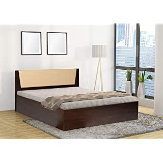 Trevi Leo Queen Engineered Wood Bed with Storage    Matte Finish_Brown
