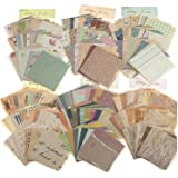 Papier Cartonné Vintage Scrapbooking,360 Feuilles Papier Décoratif Scrapbooking,Imprimé d'un Seul Côté,Pour Décoration Bricol