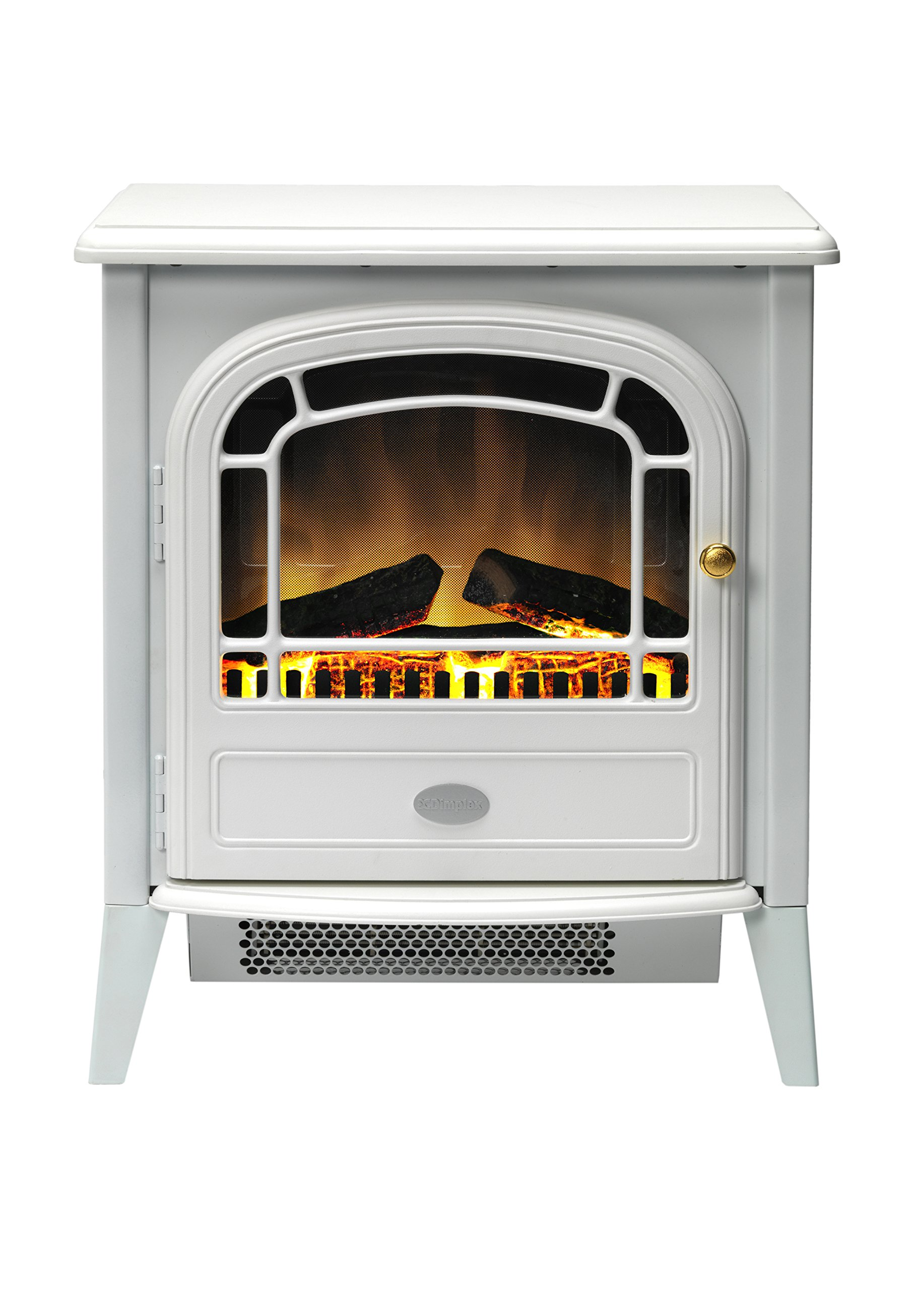814W6CHaUqL - Dimplex CVL20E Courchevel Electric Stove with Optiflame Effect, 2 kW, 230 W, White