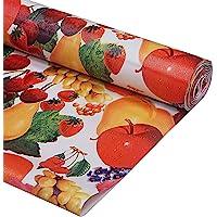 Kuber Industries PVC Wardrobe Kitchen Drawer Shelf Mat 10 Mtr Roll (Cream), CTKTC013554