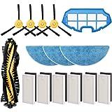 morpilot Kit de Accesorios para Conga Excellence y Conga 990 Excellence, Recambios con 4 Cepillos Laterales, 3 Mopas, 6 Filtr