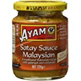 AYAM Malaysian Mild Satay Sauce - High Quality - Peanut Flavour - 100% Natural Ingredients - BBQ Skewers - Gluten-Free…