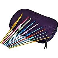 TRIXES Un Ensemble en Boite de 22 Crochets en Aluminium pour Tissage Artisanal et pour coiffer des Cheveux comme…