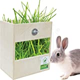PetNest Small Animal Feeder Cage Accessories Attach Hay Rack, Grass Feeder, Holder for Rabbit, Guinea Pig, Ferret