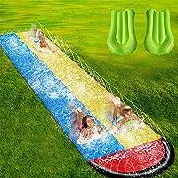 Wassersport Backyard Waterslide Wasserrutsche 480 x 140 cm Doppel Wasserrutsche Spray Sommerspielzeug F/ür Die Hei/ßen Sommeraktivit/äten