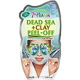 7th Heaven Dead Sea Clay Easy Peel Off maschera viso con caolino argilla e alghe per la pulizia profonda dei pori, normale, c