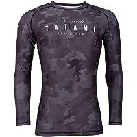 Tatami Fightwear Men's Long-Sleeve Stealth Rash Guard – Quick-Dry Compression – BJJ, MMA, Jiu Jitsu, Grappling