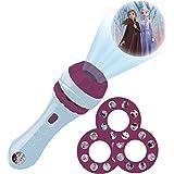 Lexibook Disney, Frozen Taschenlampe und Projektor mit 3 Scheiben, 24 Bilder, erstellen Sie Ihre eigenen Geschichten, LTC050F