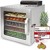 Deshydrateur Alimentaire Inox VITA5 Nobel S • Déshydrateur 6 Plateaux • Minuteur 24 heures • Température de 30 à 90ºC • 400 W