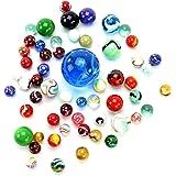 PhiLuMo Biglie di vetro colorate, con diversi motivi, da 500 g