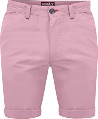 westAce New Mens Slim Fit Stretch Cotton Chino Shorts Summer Casual Smart