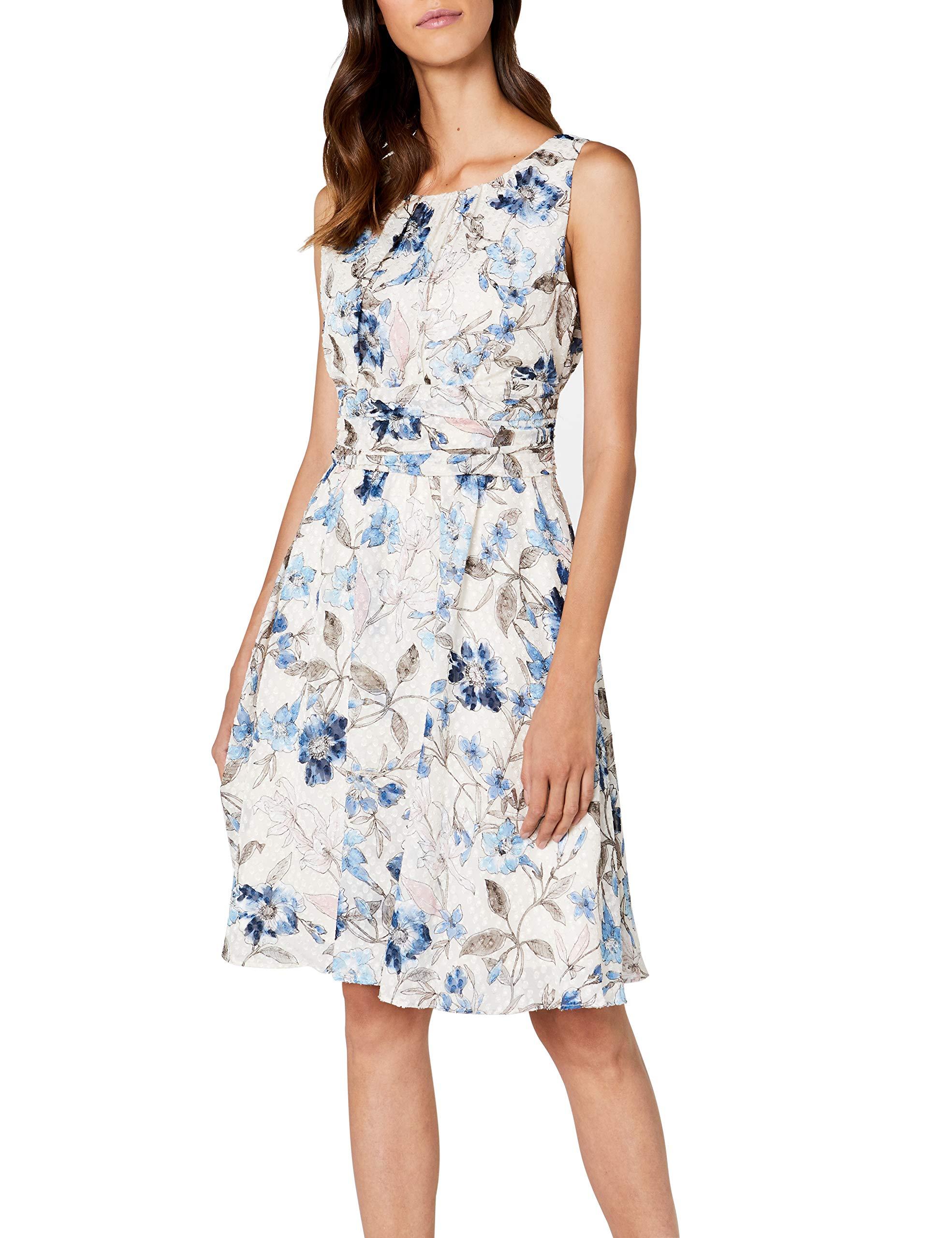 65b8a703ec5e ESPRIT Collection 038eo1e024, Vestito Elegante Donna, Bianco (off ...