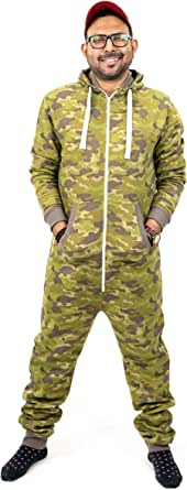 NOROZE Mens Stylish All in One Jumpsuit Onesie