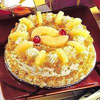 Ferns N Petals Pineapple with Butterscotch Cake- Half Kg | Birthday Cake | Fresh Cake | Cream Cake