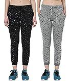 VIMAL JONNEY Multicolor Cotton Blended Trackpants for Women(Pack of 2)-F4_PRT_1_002-P