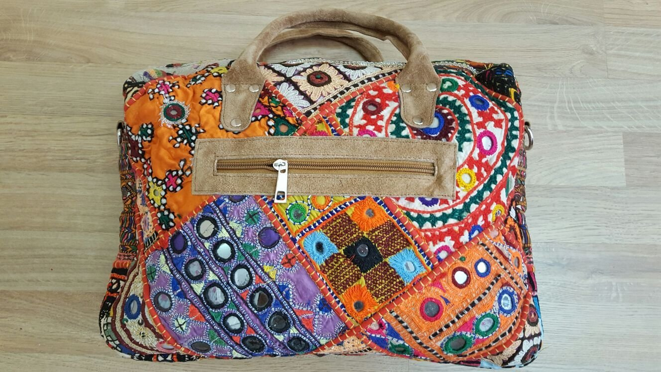Top handle shoulder bag - handmade-bags
