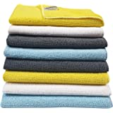 SOFTSPUN Microfiber Cleaning Cloths, 8 pcs 30x40cms 280GSM Multi-Color. Highly Absorbent, Lint and Streak Free, Multi…