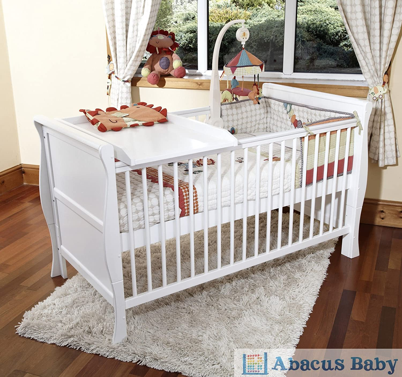 SCARLETT SLEIGH COT BED TODDLER DELUXE SPRUNG MATTRESS CHANGER Amazoncouk Baby