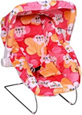 Tender Care Multipurpose (10 in 1) Baby Carry Cot with Mosquito Net and Sun Shade (Red)