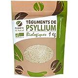 Psyllium Bio Blond - 1kg - (Téguments) - 99% de pureté - Riche en Fibre