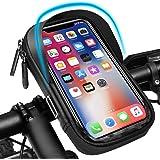 Pezimu cykelväska | mobilhållare för cykel motorcykel | vattentät mobilhållare styrväska hållare | 360° vridbar ramväska cyke