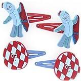 New Official Licensed Igglepiggle In the Night Garden Hair Clip Set for pre school Children
