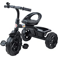 Toyzoy TZ-524 Kids 3 Wheel Trike with Detachable Bell, Children Roadster Tricycle for Toddlers and Kids (Black)