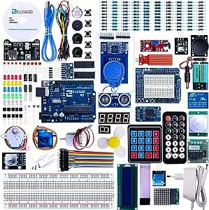 Elegoo Scheda Starter Ultimate Kit Piu Completo per Progetto Principianti con Tutorial in Italiano Learning Kit di Apprendimento Compatibile con progetti IDE Arduino(63 Articoli)